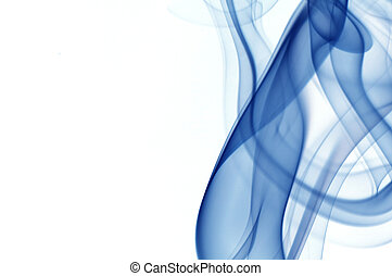abstract smoke isolated on the white