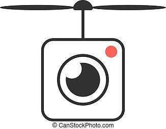 drone icon with camera lens. concept of smart hobbie toy,...