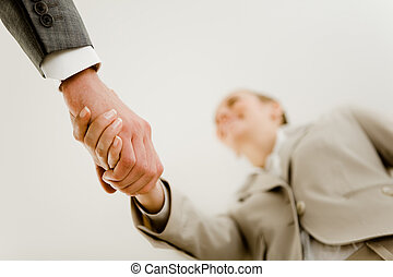 Handshake of partners - Photo of handshake of business...