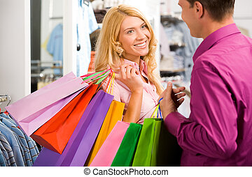 の間, 買い物