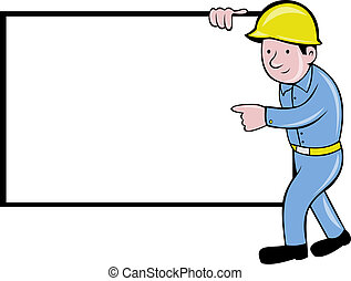 cartoon construction worker - illustration of a cartoon...