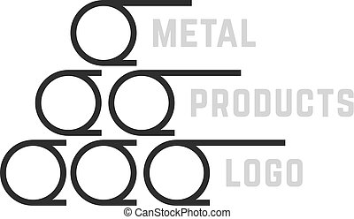 simple metal products logo. concept of reinforcement,...