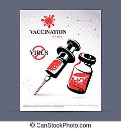 Get your flu shot marketing presentation poster. Vector...