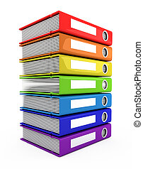 3d color books tower