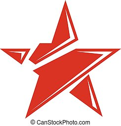 Vector star illustration as the symbol of success. Can be...