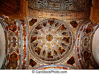 Domed ceiling of museum, Seville - Domed ceiling of Museum...