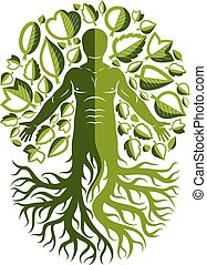 Vector illustration of human, athlete created as...