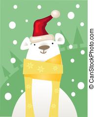 Christmas ice Bear