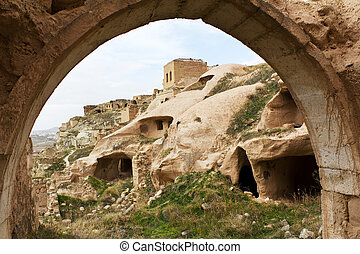 Abandoned Settlement of Cavusin in Cappadocia, Turkey