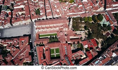 Aerial drone footage video - panoramic view of Florence,...