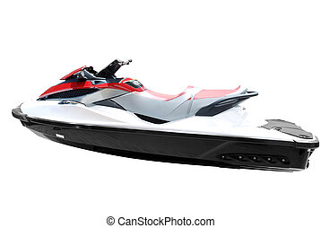 fast jet ski isolated