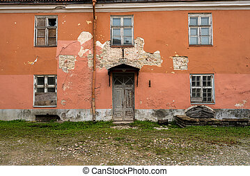 Ruined old home or house in Tallinn, Estonia - Dilapidated...