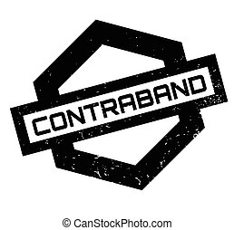 Contraband rubber stamp. Grunge design with dust scratches....