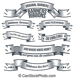 old school ribbons - Unusual old school ribbons and banners...