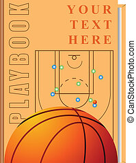 Book basketball - Vector cover of the book on the topic of...