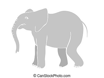 elephant - vector - Illustration of the elephant - vector