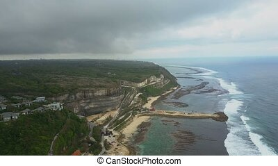 Aerial view on the beach and coast.