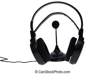 audio microphone headphones
