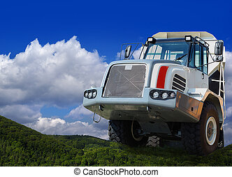 heavy duty truck - Big heavy duty truck climbing the...
