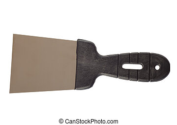 trowel, spatula isolated on white backgrounds -...