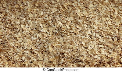 Pile Of Oats Closeup - Oats in a pile rotating slowly