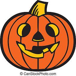 Vector of Pumpkin - Illustration of a Halloween Pumpkin