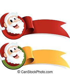 Santa Claus Christmas Web Ribbon