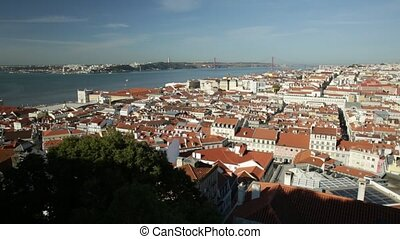 Lisbon skyline Portugal - Lisbon aerial view from popular...