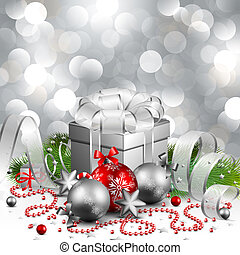 christmas background - beautiful silver christmas background