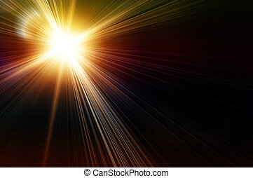 yellow flash - rainbow flash on a black backgrounds. The...