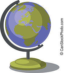 Earth globe set 007