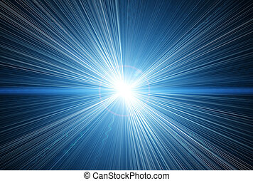 white flash on a space backgrounds