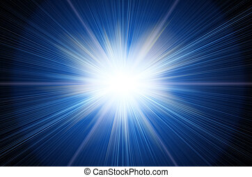 bright flash - white flash on a blue backgrounds