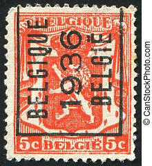 stamp - BELGIUM - CIRCA 1935: stamp printed by Belgium,...