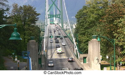 Suspension Road Bridge - The Lions Gate Bridge, Vancouver,...