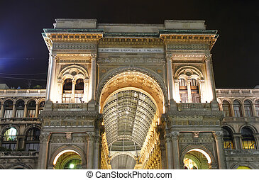 Vittorio Emanuele II Gallery in Milan, Italy