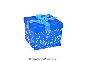 Christmas Gift Box in Blue