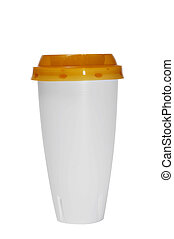 platic cup - a plastic cup isolated on a white background