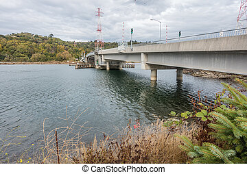 Port of Tacoma Bridge - A view of a bridge at the Port of...