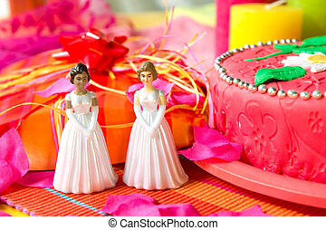 Wedding day for lesbian couple - Wedding lesbian couple in...