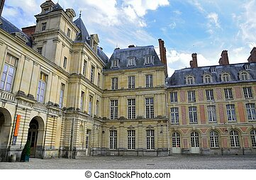 Palace of Fontainebleau - The French royal hunting Palace of...