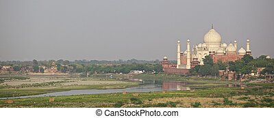 Taj Mahal from Agra Fort - A view of the Taj mahal from the...