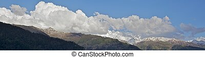 Snow capped mountains - Snow capped Himalayas.