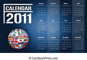 Calendar 2011 / Vector