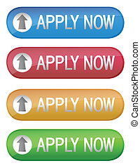 Apply now - Four different apply now color ecommerce web...