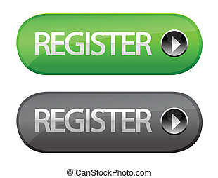 Register button isolated over a withe background.