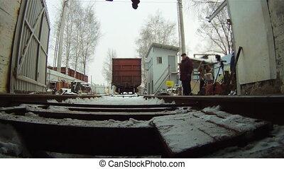 Train coupling system crash test