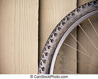 Bike Wheel - Abstract compostion of a used mountain bike...