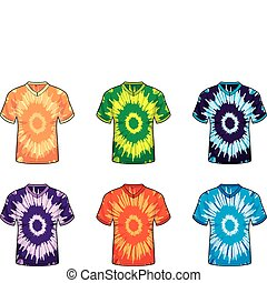 Tie Dye Shirts - A variety of different colored tie dye...
