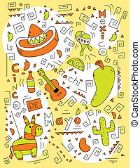 Cinco de Mayo Doodle - A cartoon doodle with a Cinco de Mayo...